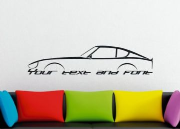 Large Custom car silhouette wall sticker - for Datsun 240z (nissan s30) classic sports car | JDM